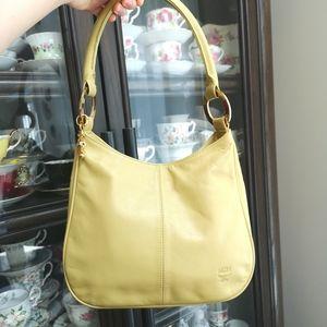 Authentic MCM pistachio coloured shoulder bag